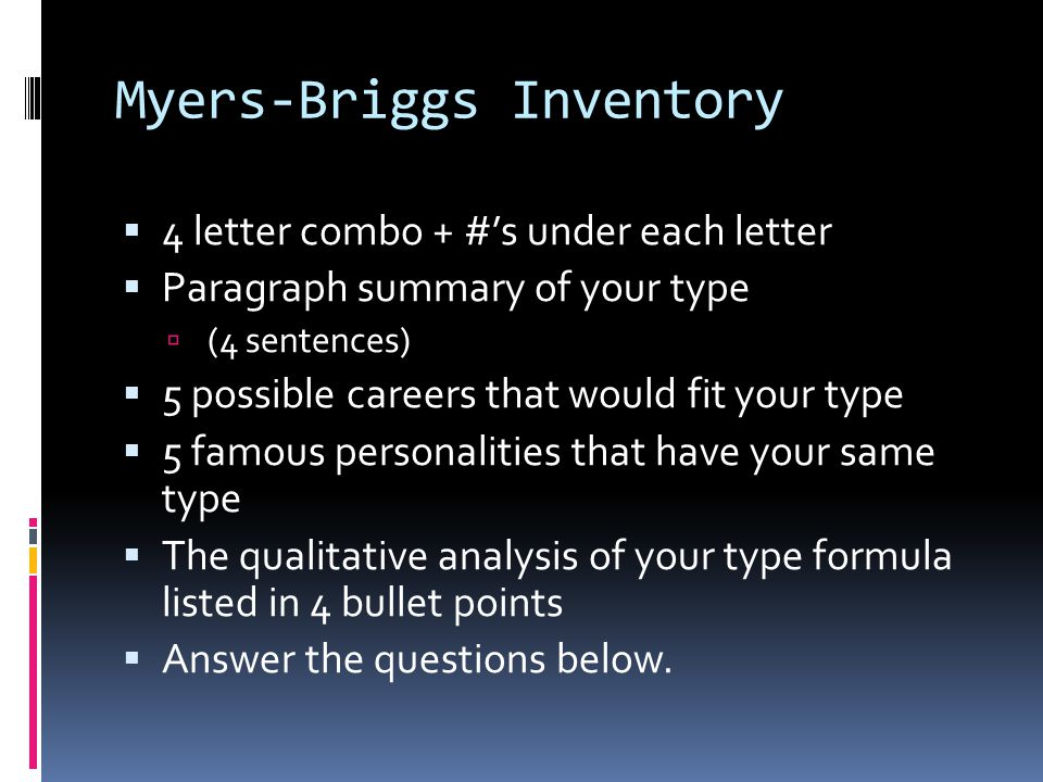 8 myers briggs inventory