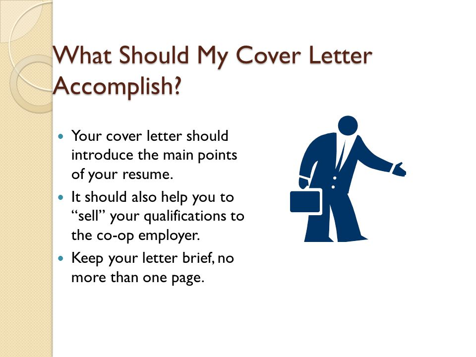 What Should My Cover Letter Accomplish