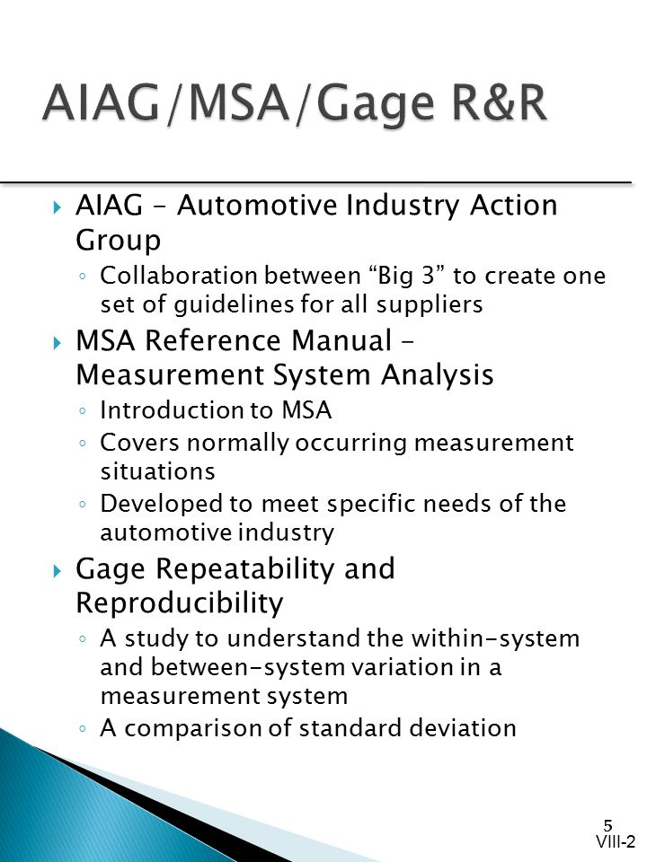 viii measure capability and measurement ppt video online download rh slideplayer com measurement system analysis reference manual measurement systems analysis manual
