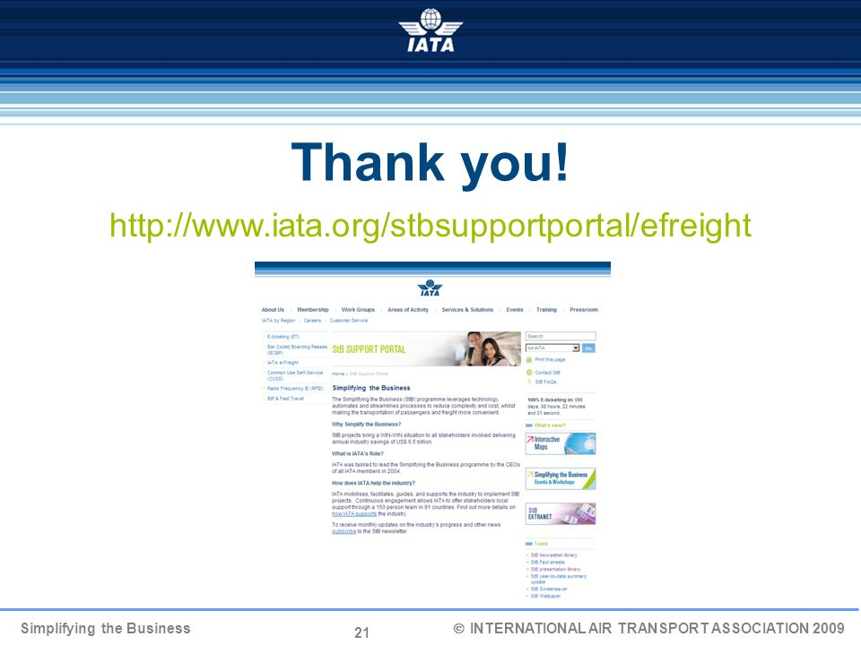 Thank you! http://www.iata.org/stbsupportportal/efreight