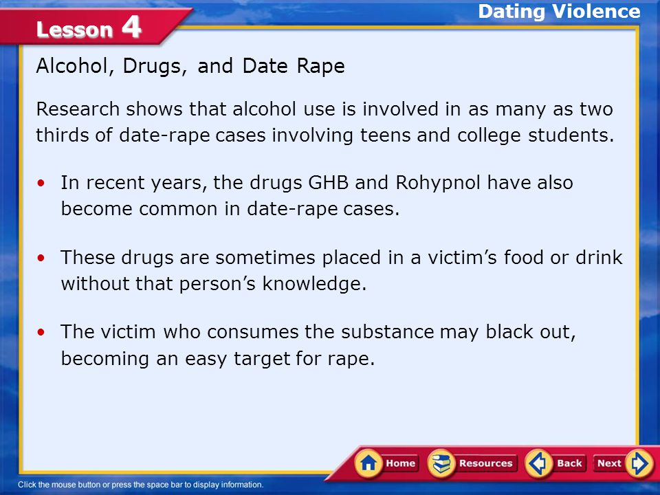 Alcohol, Drugs, and Date Rape
