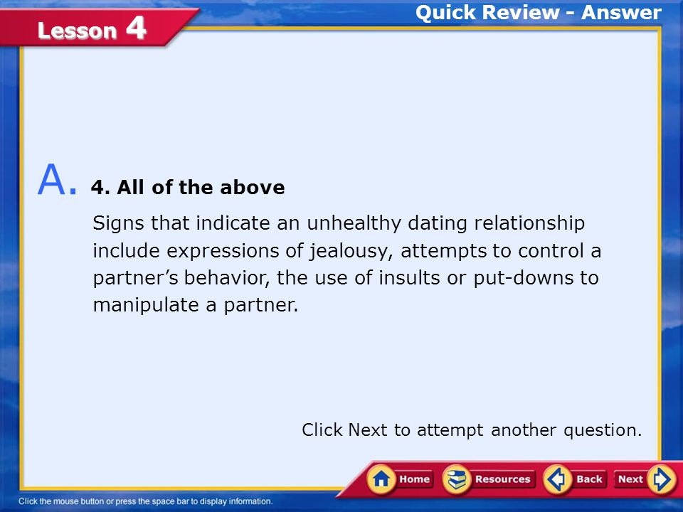 A. 4. All of the above Quick Review - Answer