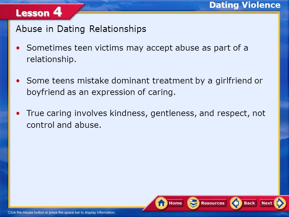 Abuse in Dating Relationships