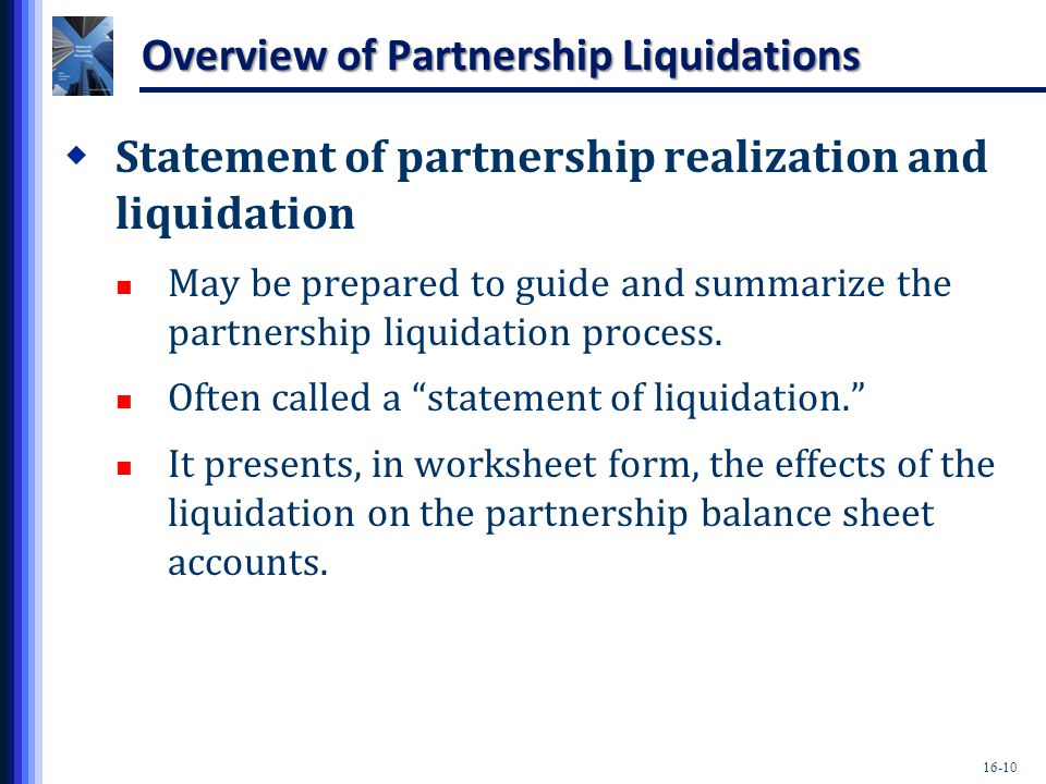Partnerships Liquidation Ppt Download