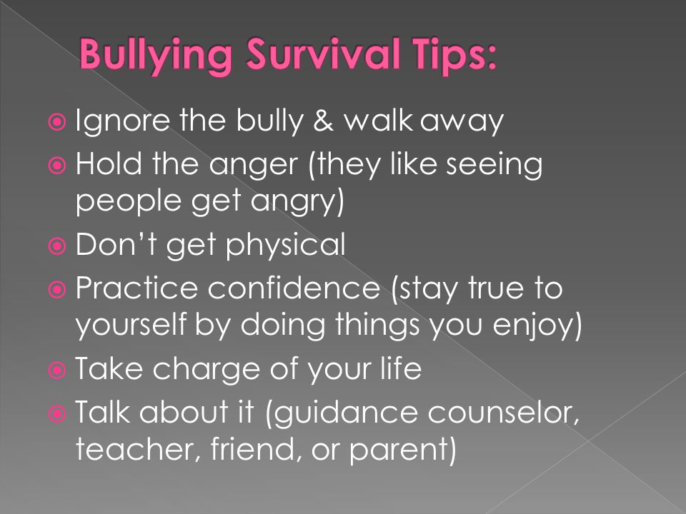 Bullying Survival Tips: