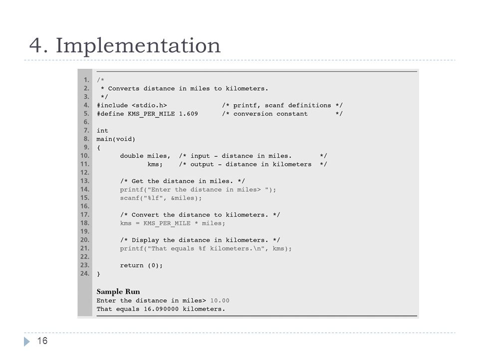 4. Implementation