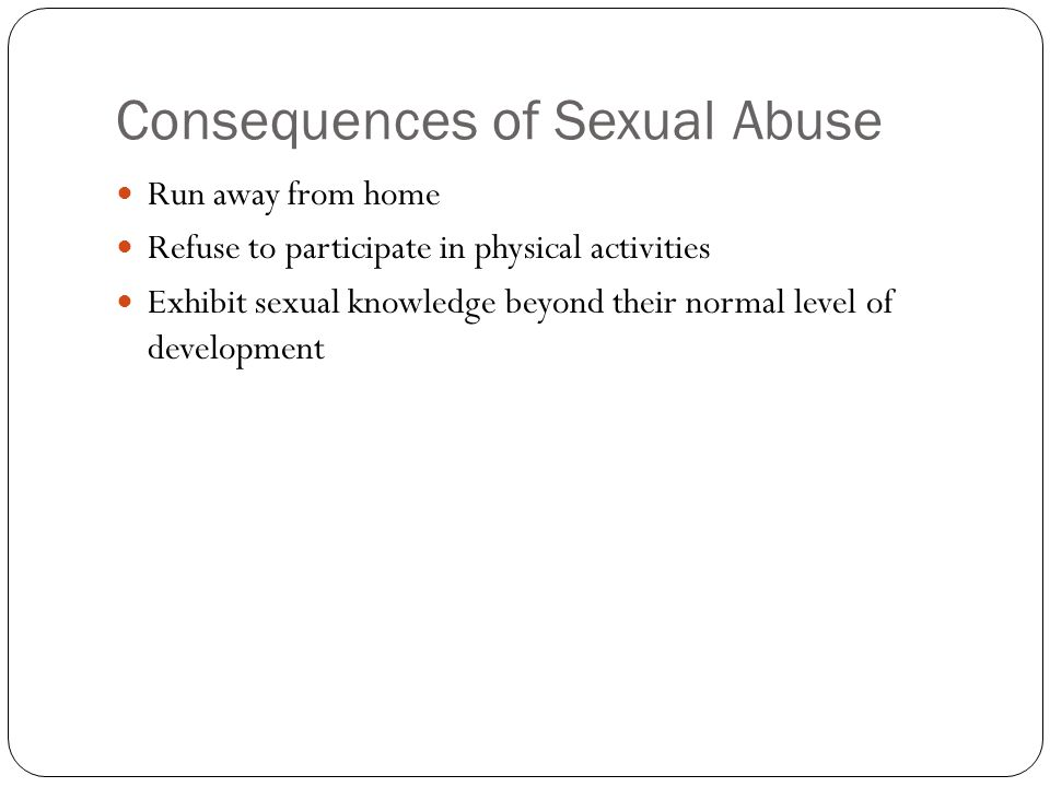 Consequences of Sexual Abuse
