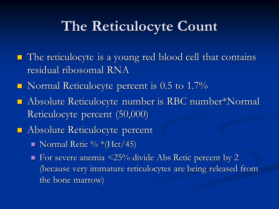 The Reticulocyte Count