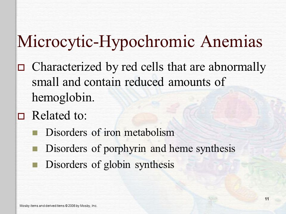 Microcytic-Hypochromic Anemias