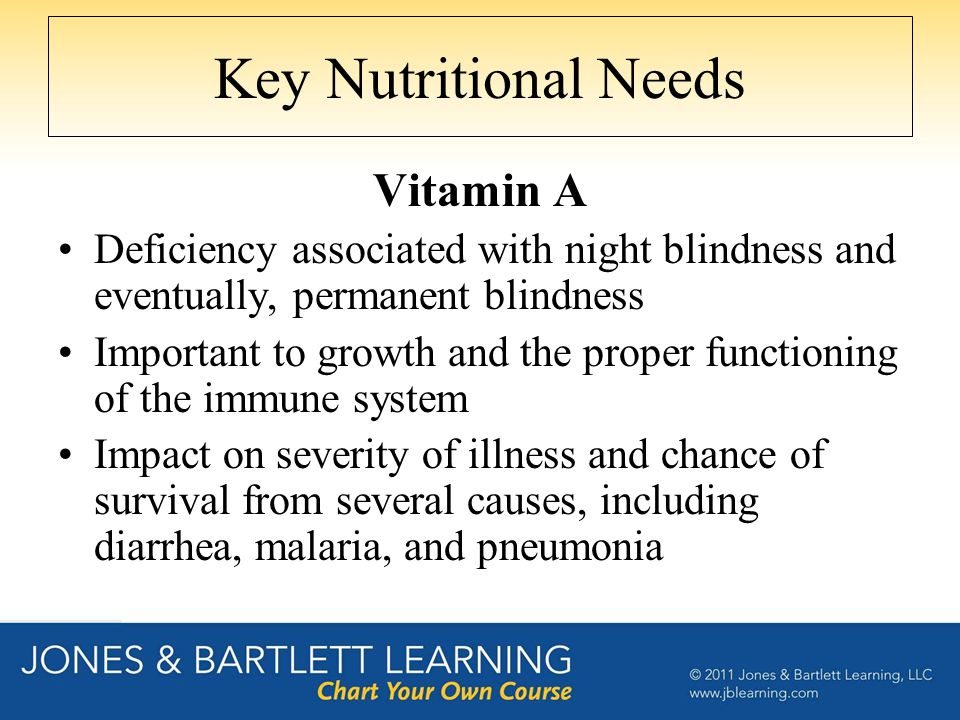 Key Nutritional Needs Vitamin A