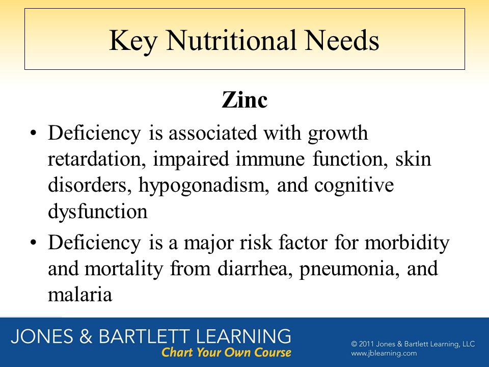 Key Nutritional Needs Zinc
