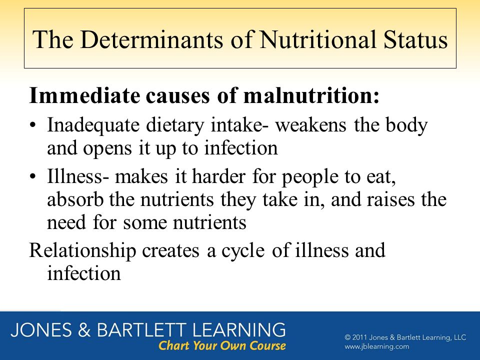 The Determinants of Nutritional Status