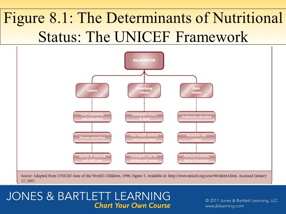 Figure 8.1: The Determinants of Nutritional Status: The UNICEF Framework