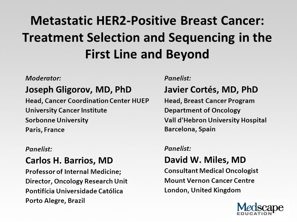 Metastatic HER2-Positive Breast Cancer: Treatment ...