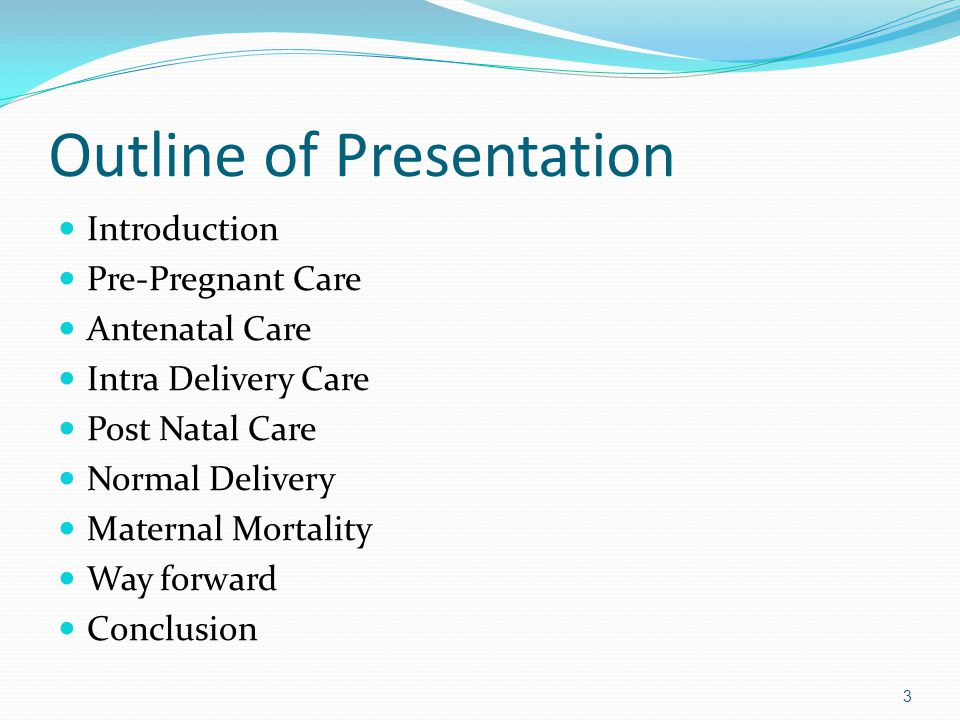 Outline of Presentation