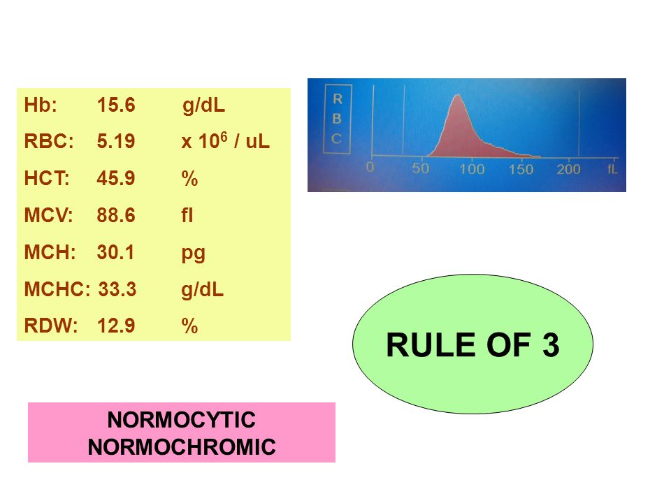 NORMOCYTIC NORMOCHROMIC