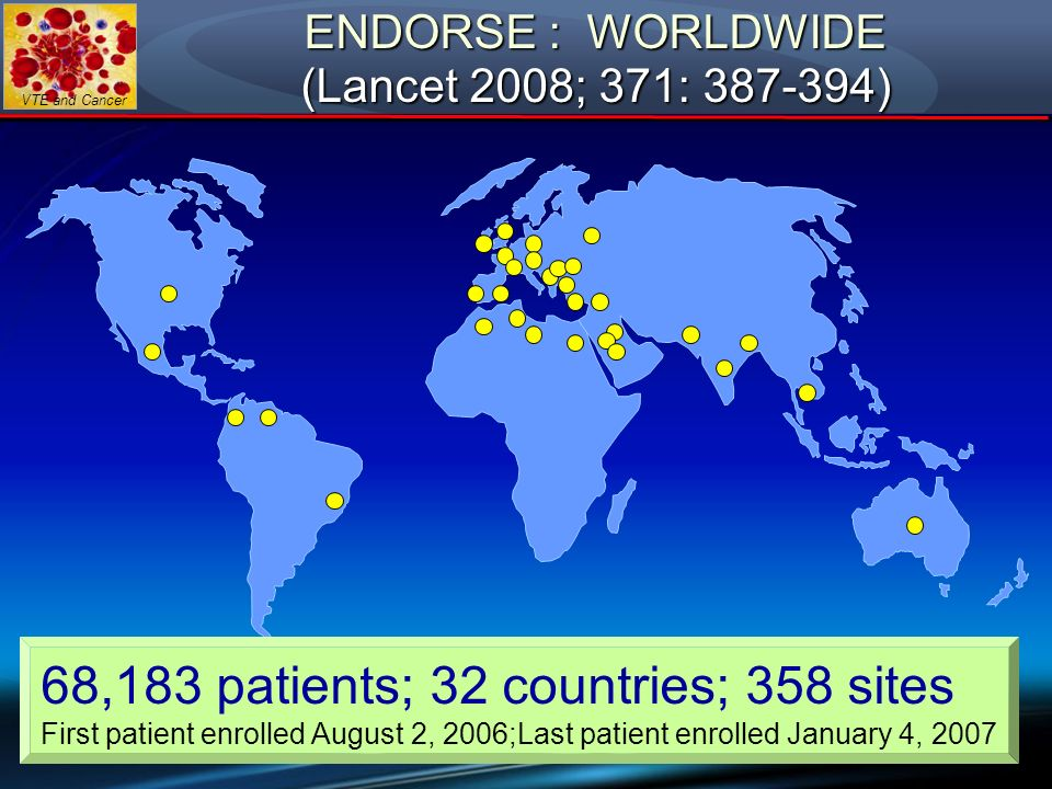 ENDORSE : WORLDWIDE (Lancet 2008; 371: )