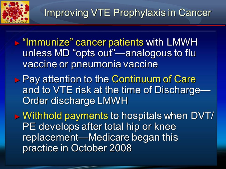 Improving VTE Prophylaxis in Cancer