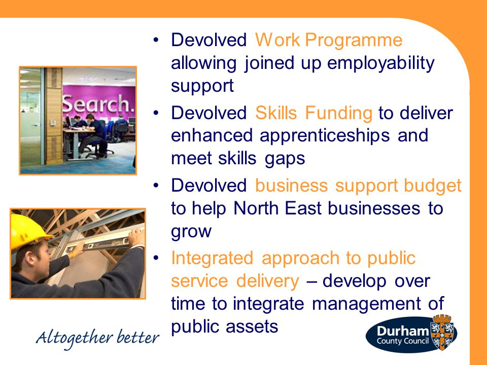 Devolved Work Programme allowing joined up employability support