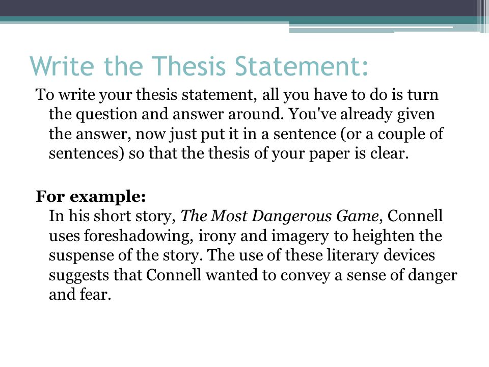 how to write a statement of evidence