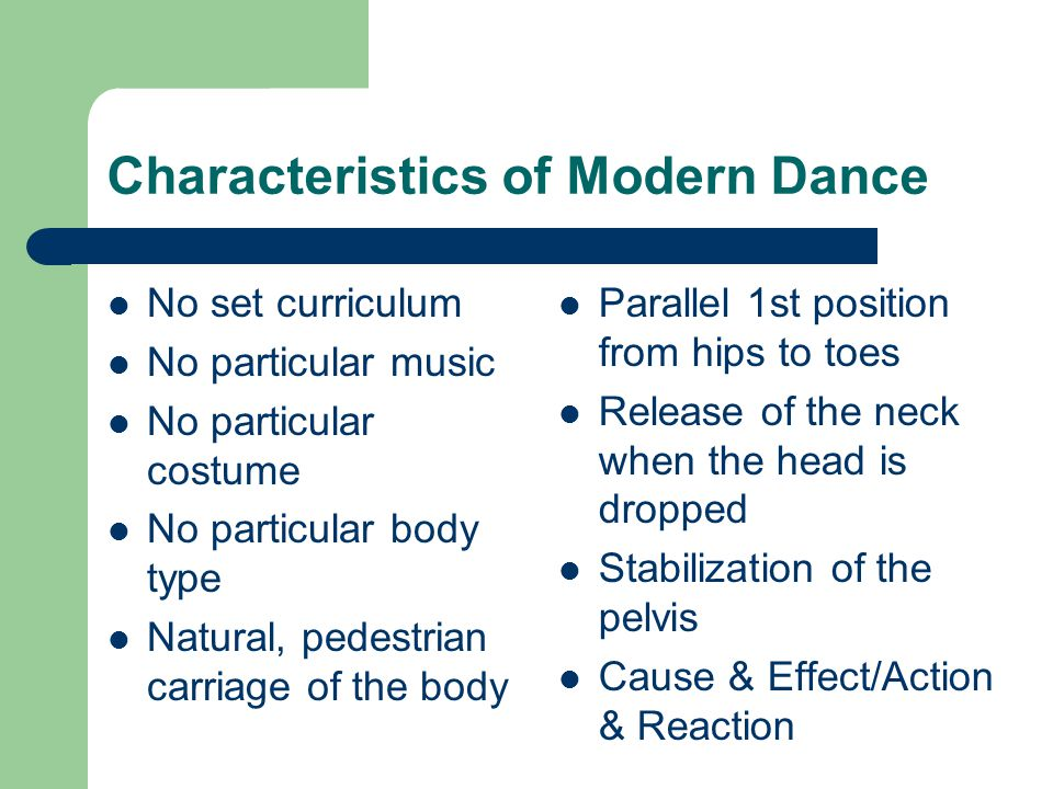 Introduction to Modern Dance - ppt video online download