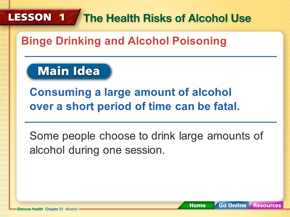 Binge Drinking and Alcohol Poisoning