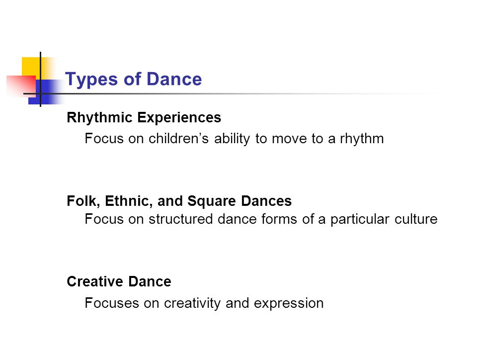 Types of Dance Rhythmic Experiences