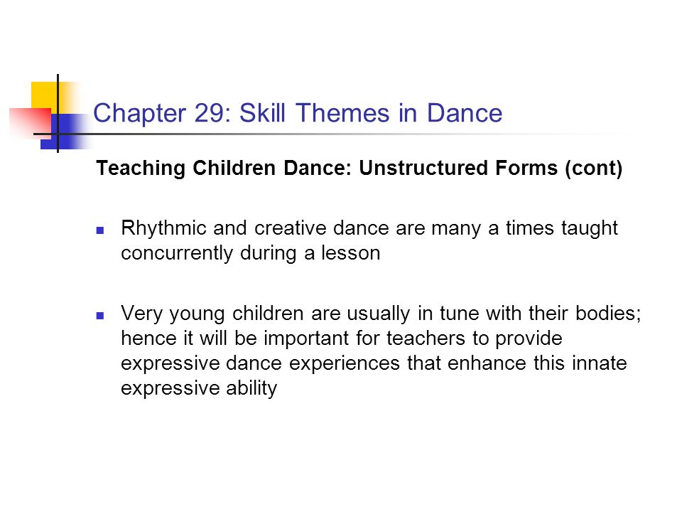 Chapter 29: Skill Themes in Dance