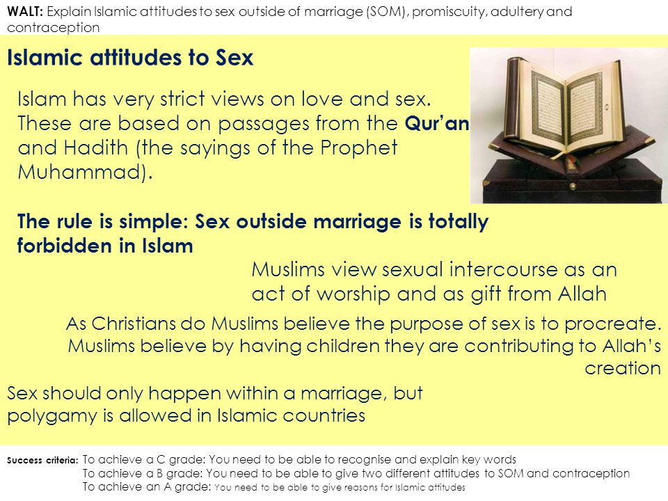 Muslim views on premarital sex