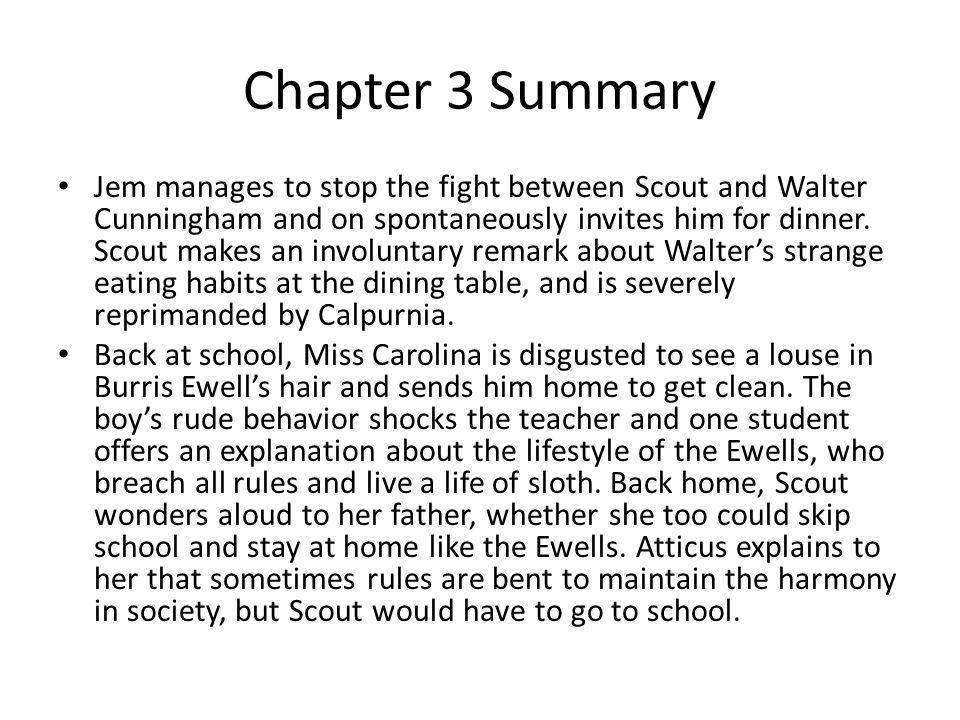 summary chapters 1 3 to kill a mockingbird