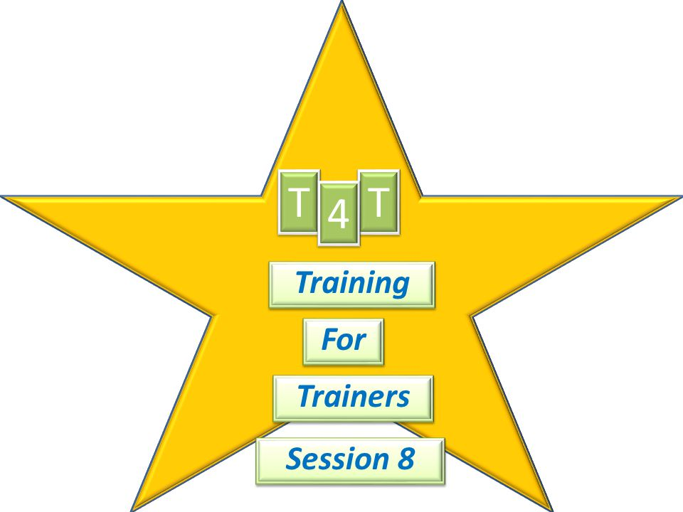 T T 4 Training For Trainers Session 8
