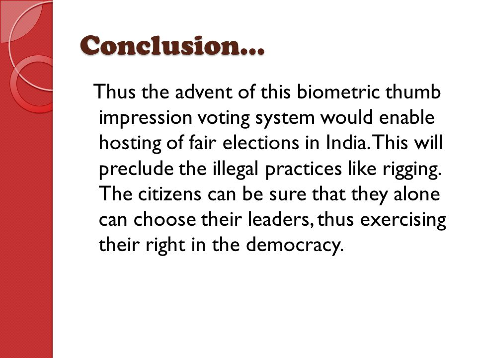 BIOMETRIC VOTING SYSTEM - ppt video online download