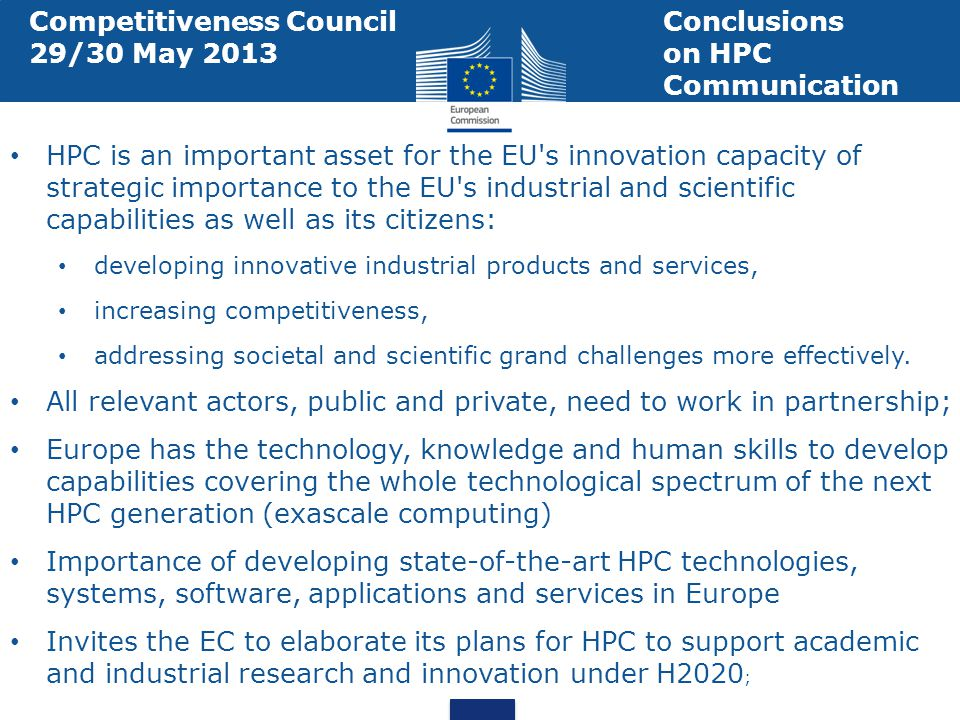 Competitiveness Council Conclusions