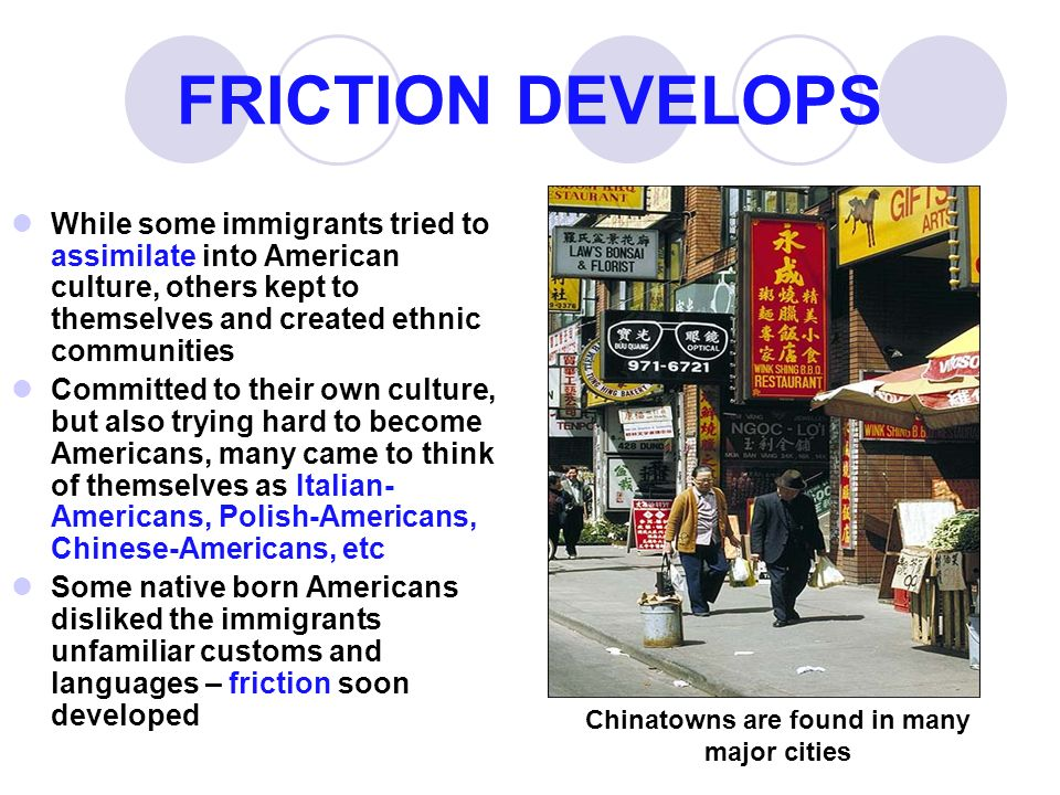 Chinatowns are found in many major cities
