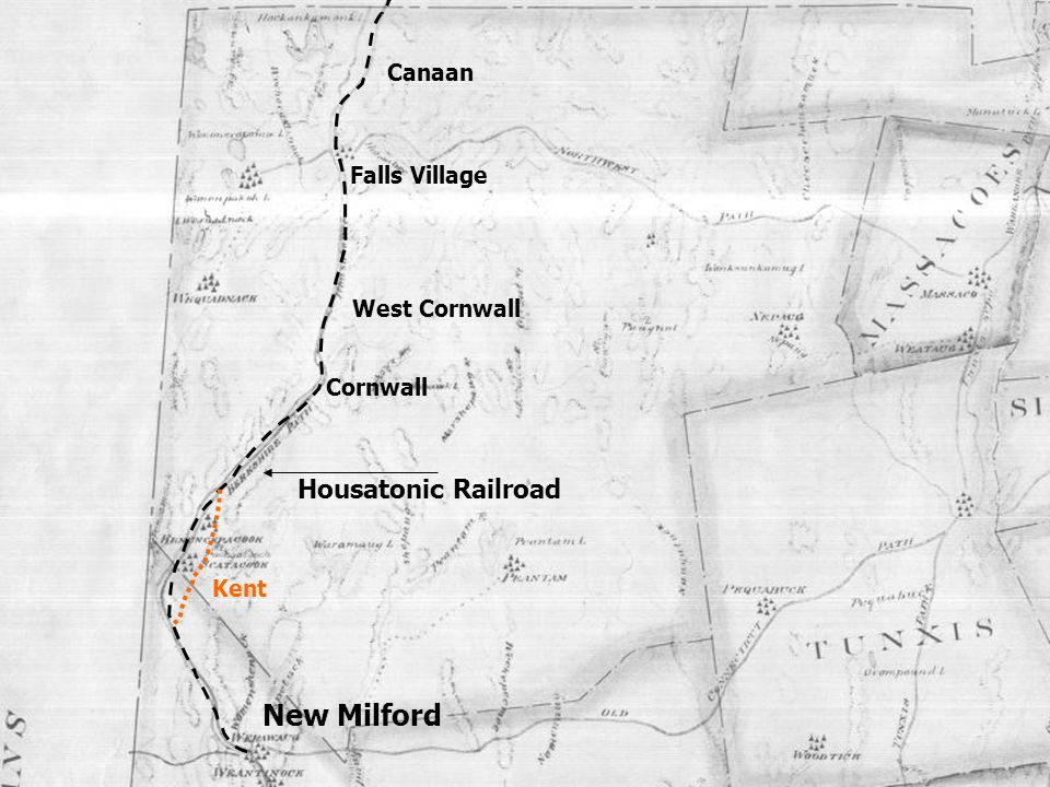 New Milford Housatonic Railroad Canaan Falls Village West Cornwall