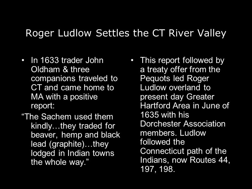 Roger Ludlow Settles the CT River Valley