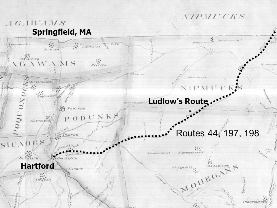 Springfield, MA Ludlow's Route Routes 44, 197, 198 Hartford