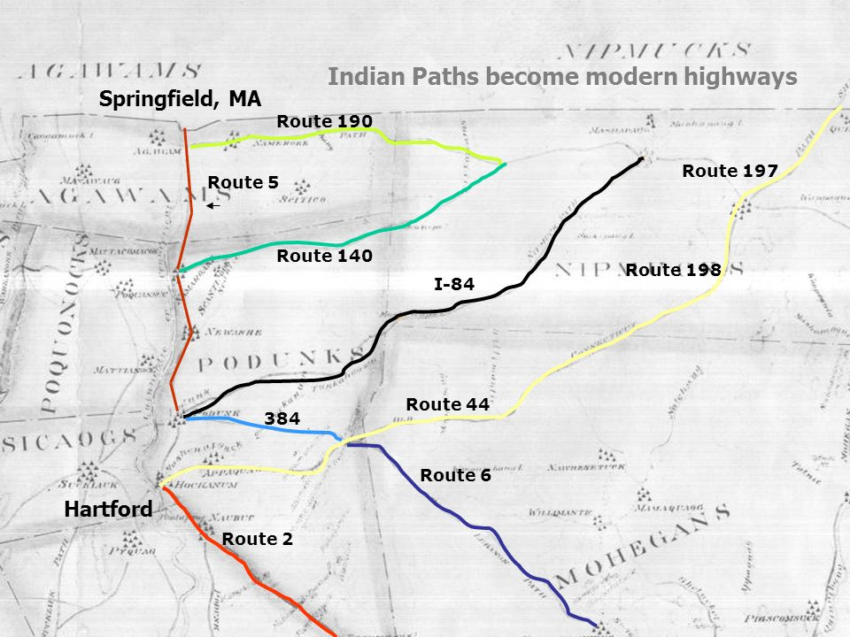 Indian Paths become modern highways