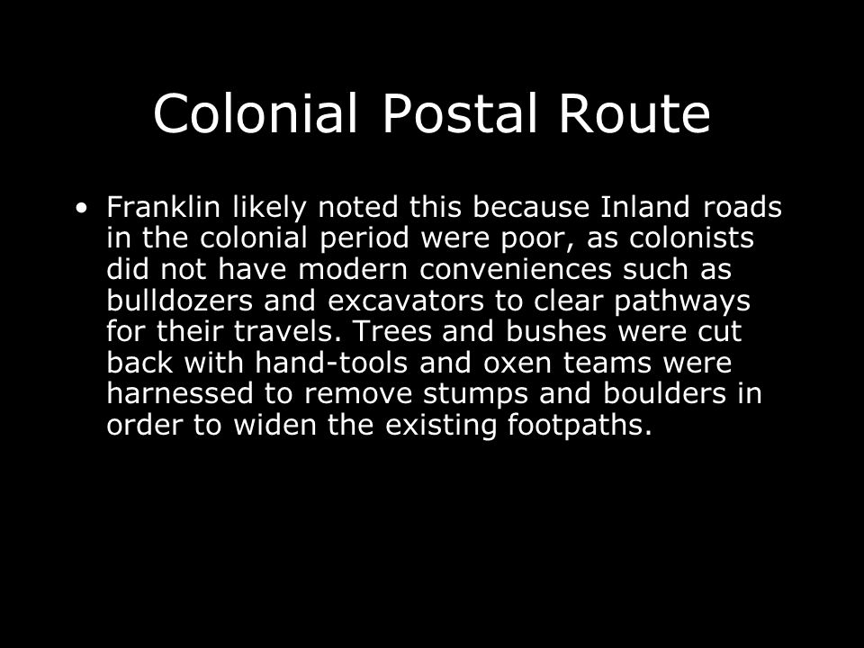 Colonial Postal Route