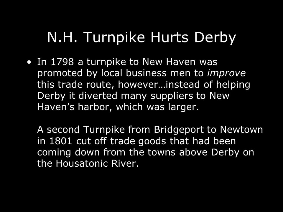 N.H. Turnpike Hurts Derby