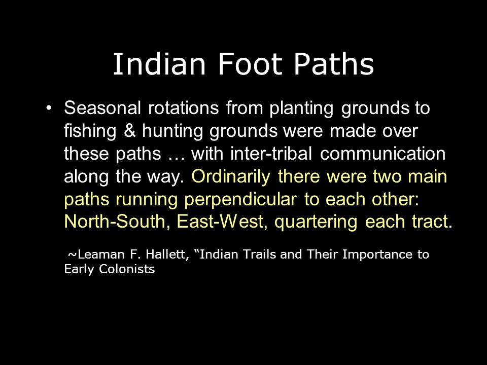Indian Foot Paths