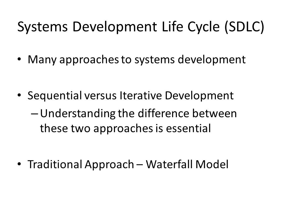 system development life cycle models pdf