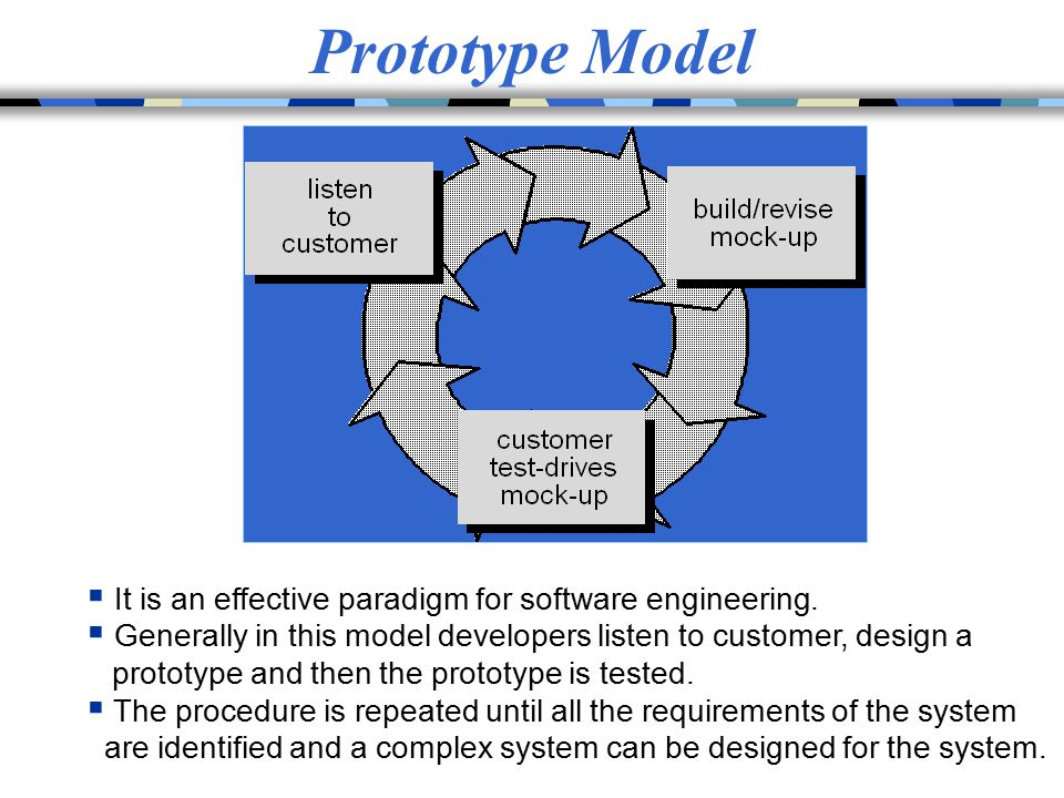 Prototype Model It is an effective paradigm for software engineering.