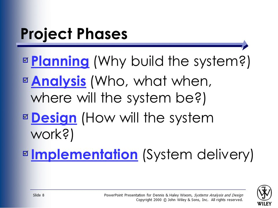 Project Phases Planning (Why build the system )