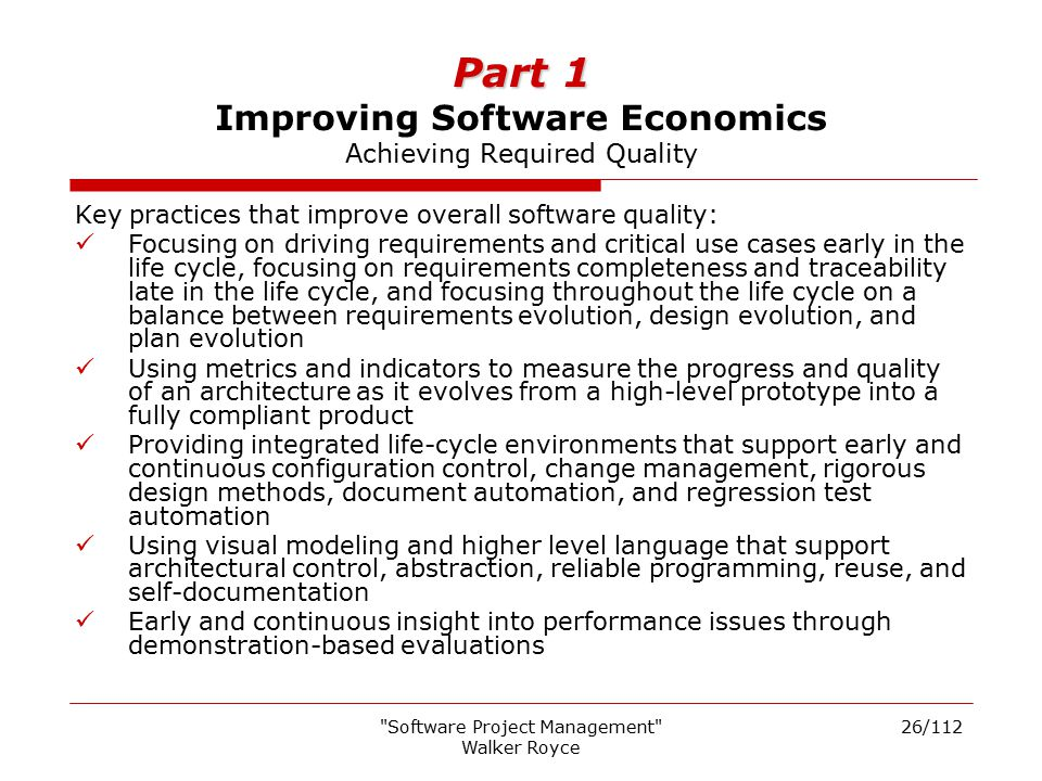 Software Project Management Rational Unified Framework - ppt