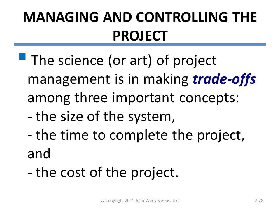Tools for project management – Example of Gantt Chart