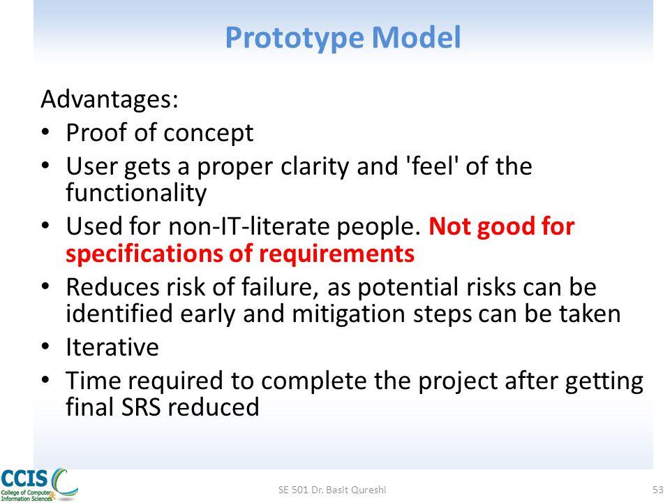 waterfall model and prototype model