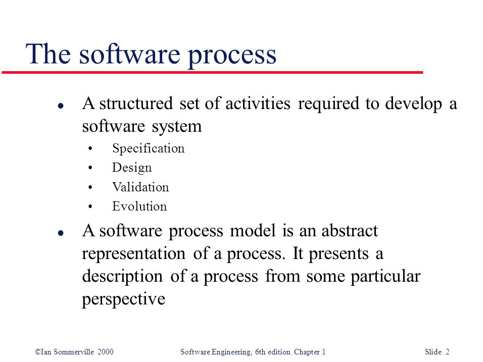 Software Processes Coherent Sets Of Activities For Specifying Designing Implementing And Testing Software Systems Ppt Download