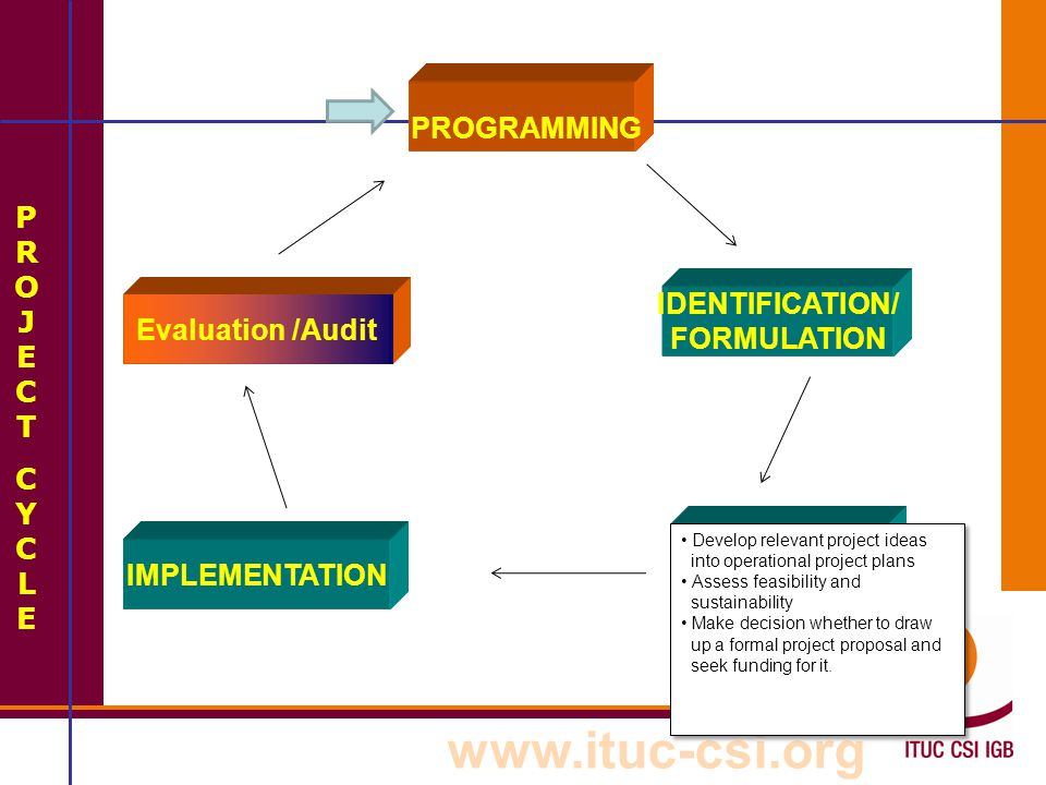 PROGRAMMING PROJECT IDENTIFICATION/ Evaluation /Audit CYCLE