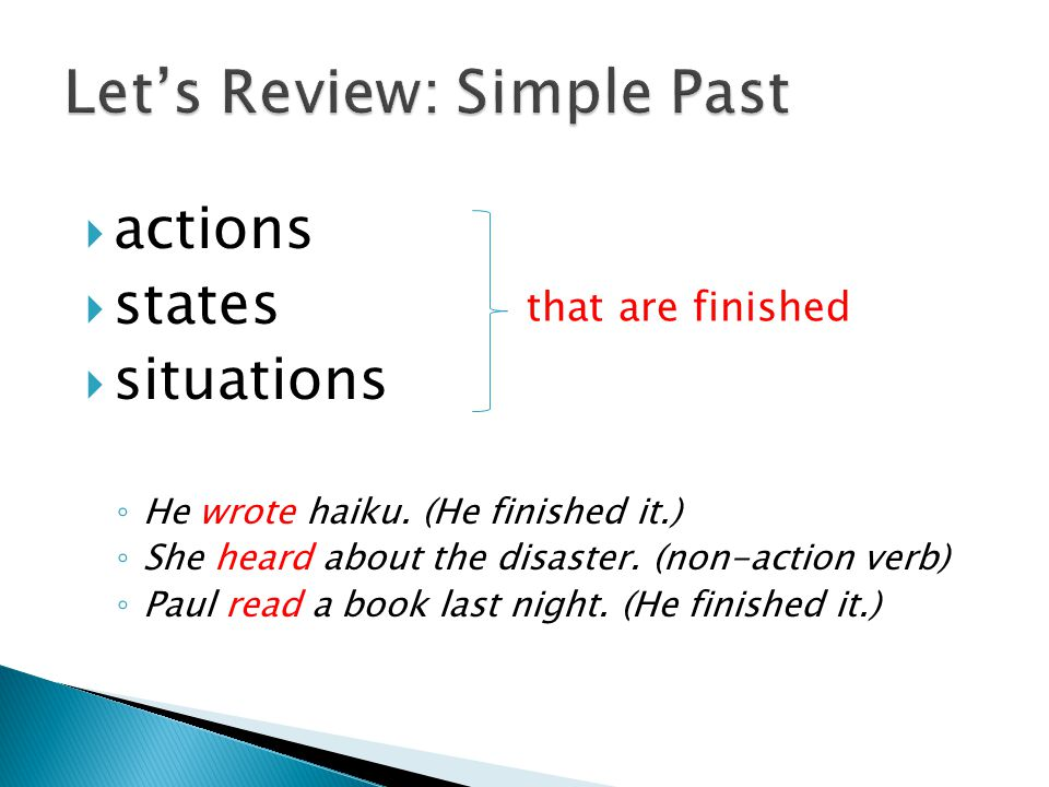 Let's Review: Simple Past